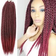 extension braids vogue braids synthetic brown gradient senegal twists hair