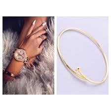 wrap cuff bracelet images Zara jewelry thin rose gold tone wrap around nail cuff bracelet jpg