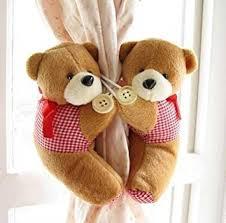 raffhalter kinderzimmer teddybär raffhalter für kinderzimmer gardinen braun 2 stück