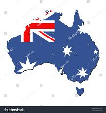 Austrslia Flag Map Australia Australian Flag Illustration Jpeg Stock Illustration