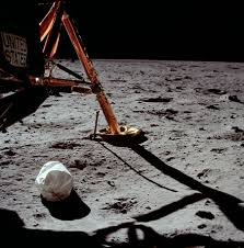 Picture Of Flag On Moon One Small Step