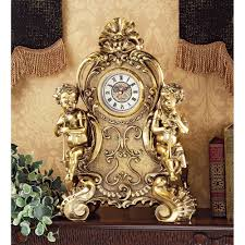 Baroque Home Decor Baroque French Rococo Style Roman Numeral Cherub Desk Table Study