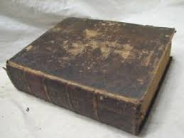 leather bound photo book antique german family bible 1828 imprint leather bound book phila
