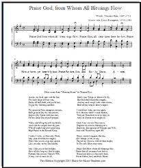 the doxology with choral parts or lead sheets in 4 free