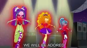 welcome to the show with lyrics my little pony equestria girls