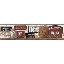 country lodge and western red orange borders wallpaper