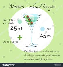 martini vector martini bartender cocktail vector receipt poster stock vector