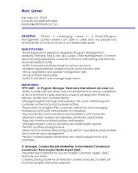 Subject Matter Expert Resume Project Manager Resume Objective Berathen Com