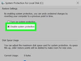 5 ways to delete system restore files wikihow