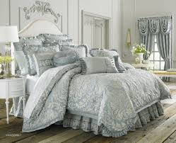 Comforter Sets Queen With Matching Curtains Glamour Paisley Flowers Pattern Light Blue Comforter Sets With