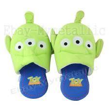 pair disney toy story alien soft plush slipper ebay