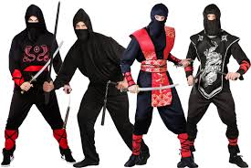 Halloween Costume Ninja Ninja Warrior Mens Fancy Dress Japanese Samurai Martial Arts