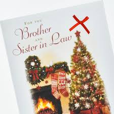 christmas card heartfelt greetings brother u0026 sister in law