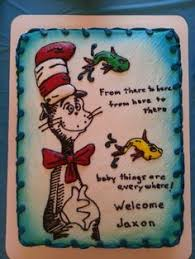 dr seuss baby shower cake cakes pinterest one fish two fish