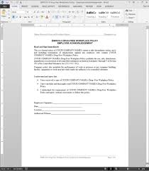 drug free workplace acknowledgement template emh510 3