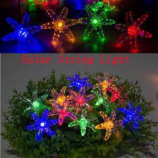led garland christmas lights led garland string lights fairy light string solar holiday outdoor
