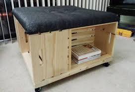 brilliant wooden storage ottoman woodworking diy wood crate