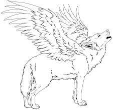 wolf wings coloring pages