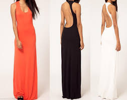 womens cocktail party evening club wear open back long dress