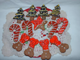 frosting fran dog christmas cookies decorated with royal icing