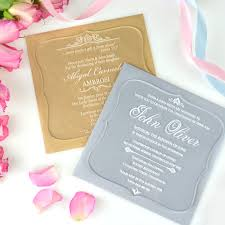 Personalised Christening Invitation Cards Engraved Acrylic Christening Invitations With Rounded Edges
