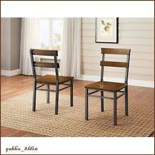 Rustic Industrial Dining Chairs Wooden Industrial Dining Chairs Ebay
