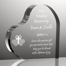 wedding anniversary plaques heart anniversary plaque