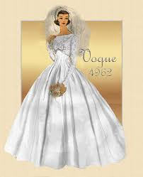 vogue wedding dress patterns vintage vogue 4962 traditional bridal gown from the 1950s