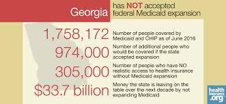 georgia and the aca u0027s medicaid expansion eligibility enrollment