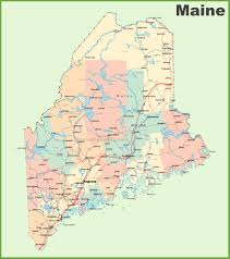 map of maine cities road map of maine with cities