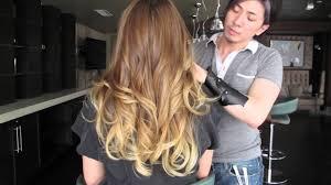 victoria secret hair cut victoria s secret ombre hair color makeover youtube