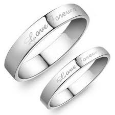 his and hers white gold wedding rings forever wedding matching rings in 925 sterling silver and