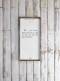 Harry Potter Decor by Harry Potter Quote Wood Sign Harry Potter Decor Rustic