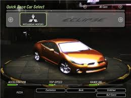 eclipse mitsubishi 2010 need for speed underground 2 mitsubishi eclipse gt final version
