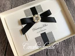 wedding invitations glitter boxed glitter wedding invitation with satin ribbon and pearl