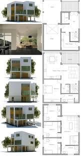 modern house plans floor contemporary home 61custom for narrow lot