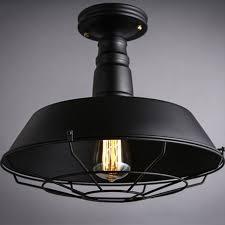 wrought iron flush mount lighting vintage industrial wrought iron wire cage semi flush mount ceiling