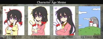 Meme Age - emma s age meme by otakupup on deviantart
