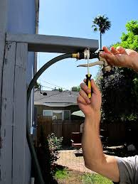 Connect Garden Hose To Outdoor Faucet How To Make An Outdoor Shower Using A Simple Garden Hose Homejelly