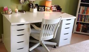 ikea linnmon alex desk vanity white crafts pinterest