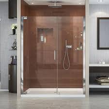 shop dreamline elegance 58 in to 60 in frameless chrome pivot