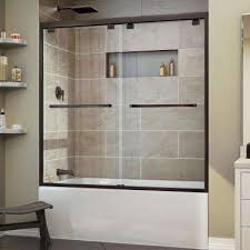 bronze bathtub doors shower doors the home depot