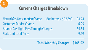 atlanta gas light pay bill how to read your natural gas bill a step by step guide
