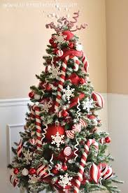 themed christmas trees peppermint christmas tree