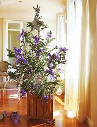 Christmas Tree Decorated With Birds by Christmas Tree Decoration Blending Purple And Pink Colors Into
