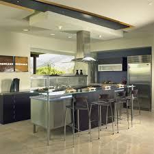 cool open kitchen design mahogany wood kitchen cabinet stainless kitchen cool open kitchen design mahogany wood kitchen cabinet stainless steel countertop medium refrigerator mahogany wood