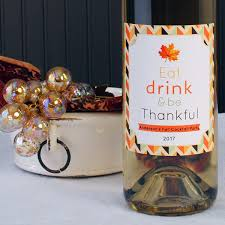 wine labels your greeting card on a wine bottle