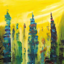 urban skyline abstract abstract organic painting organic