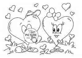 cartoon valentine heart coloring page for kids for girls coloring