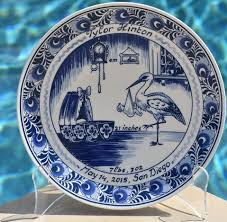 birth plates delft blue personalized birth plates tiles